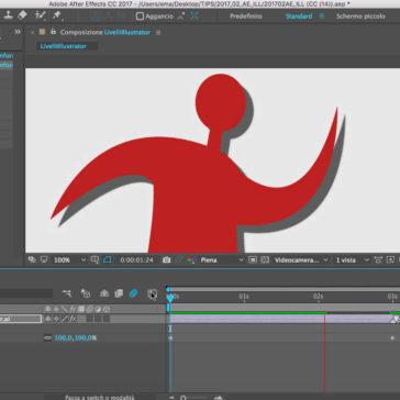 After Effects e l'integrazione con Illustrator