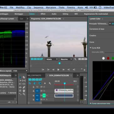 Premiere Pro Correggere una Dominante di Colore con il Lumetri Color