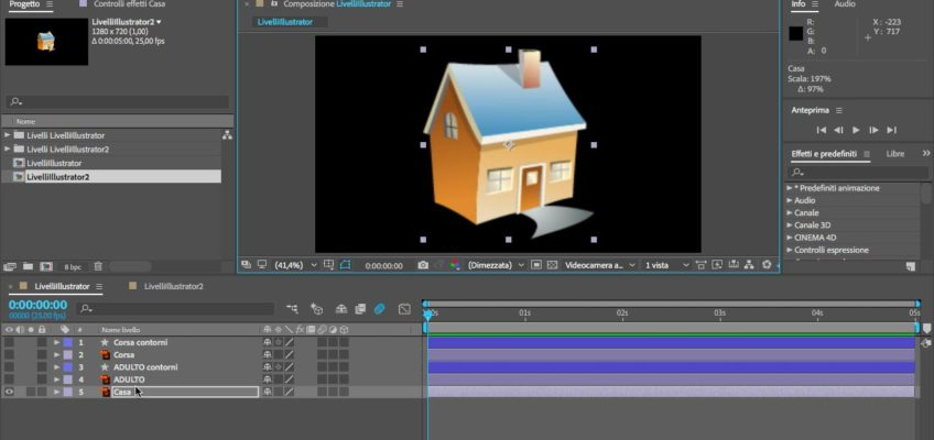 After Effects e Illustrator Crea Forme da Livello Vettoriale
