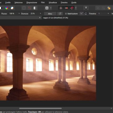 Affinity Photo Raggi di Luce suggestivi