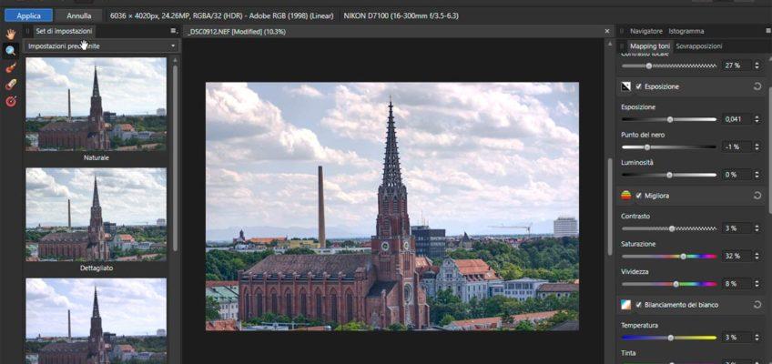 Mappatura Toni HDR in Affinity Photo per risolvere foto problematiche