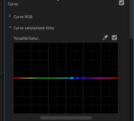 curve saturazione tinta di Premiere Pro CC 2019_3