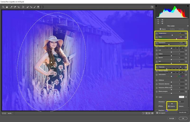 Vignettatura-con-il-filtro-radiale-in-Camera-RAW_1